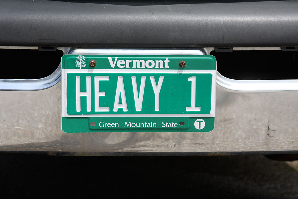 HEAVY1 License Plate