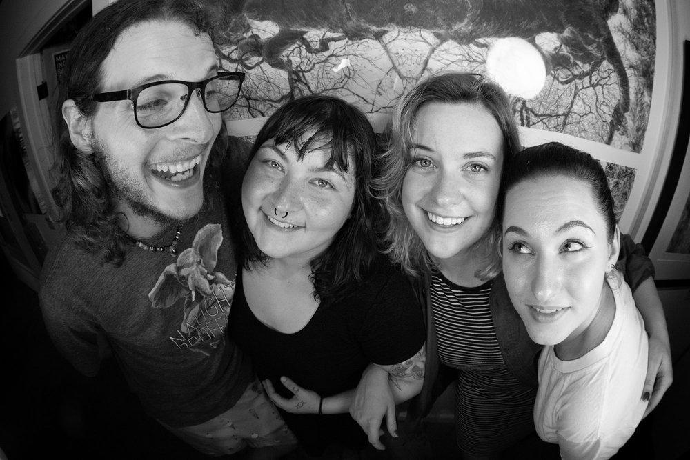 Django, Clairebot9000, Julia Kate, and Christine