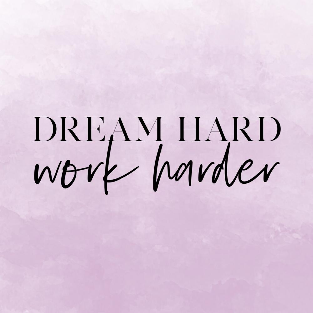 dream hard instagram graphic