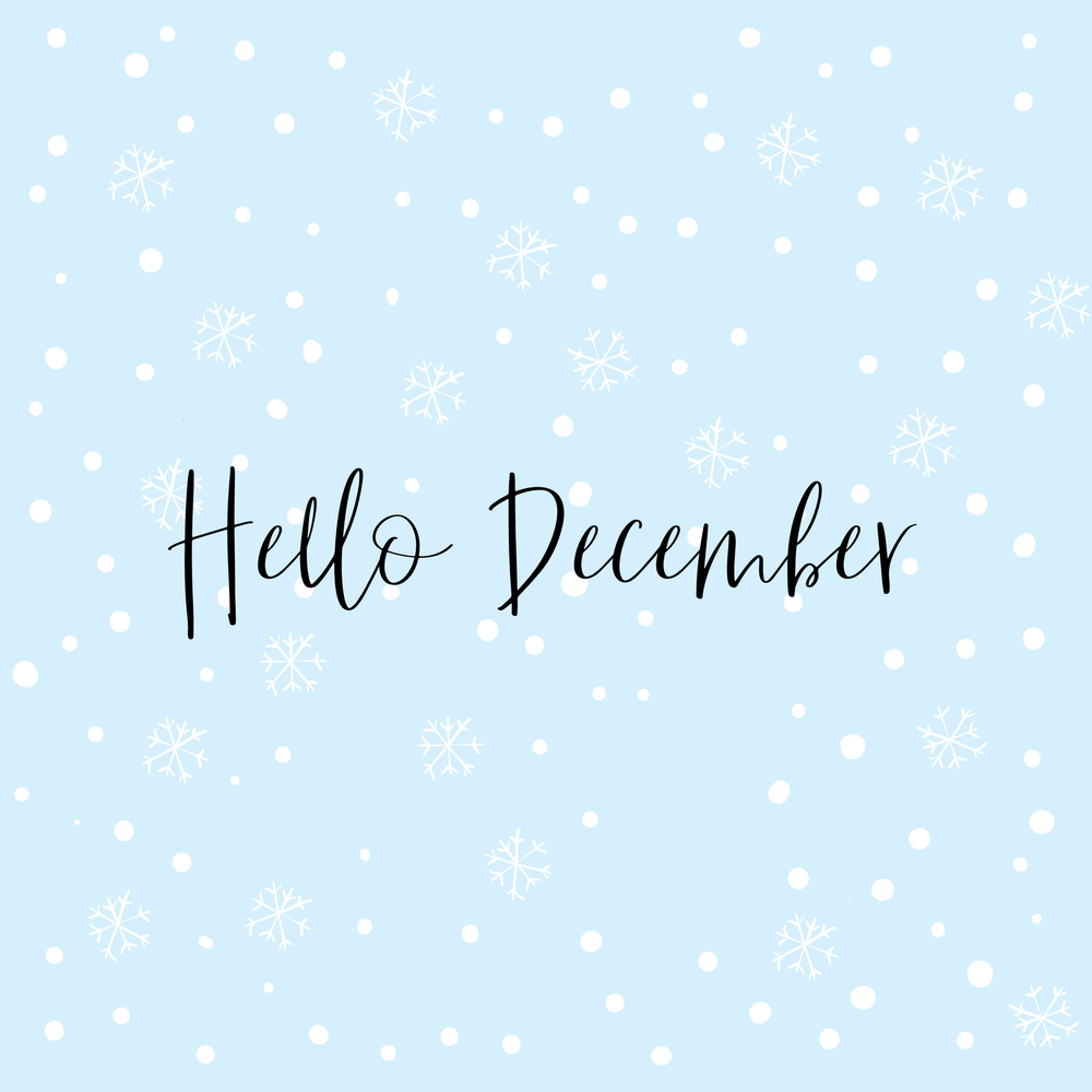 hello december instagram post