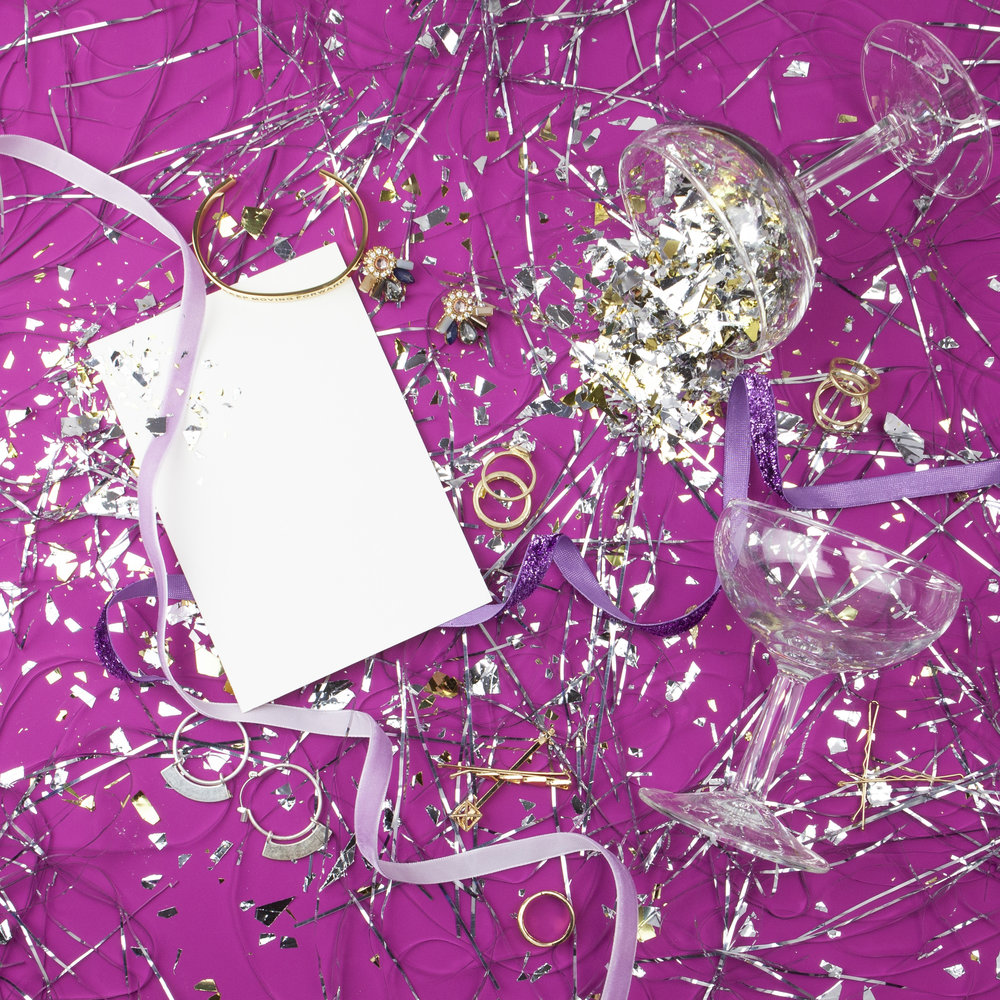 purple new years instagram post