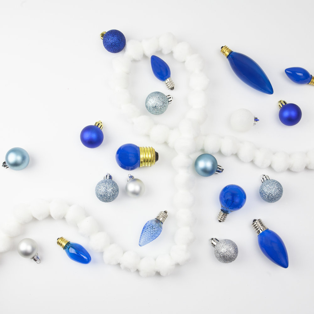 blue ornaments instagram post