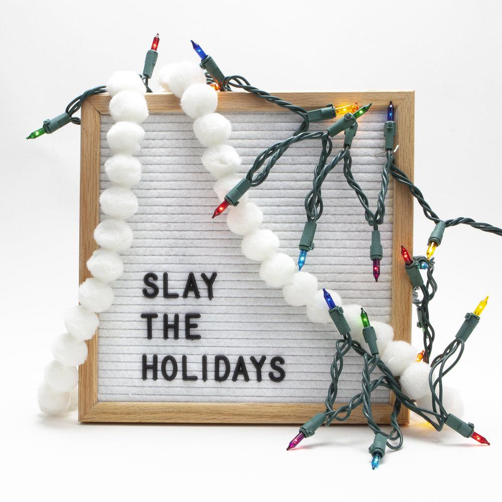 slay the holidays instagram post