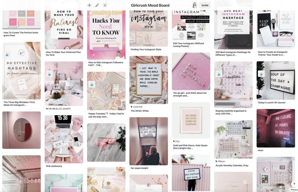 Girlcrush Pinterest Mood Board