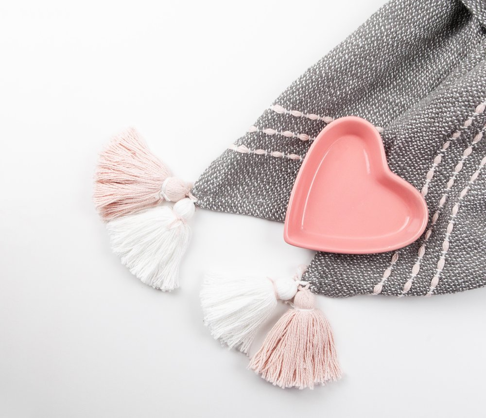 pink and grey heart