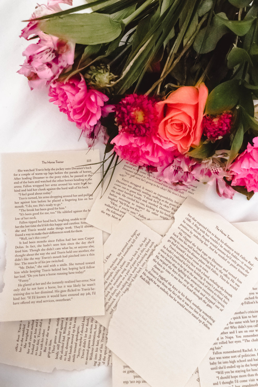 flowers and pages