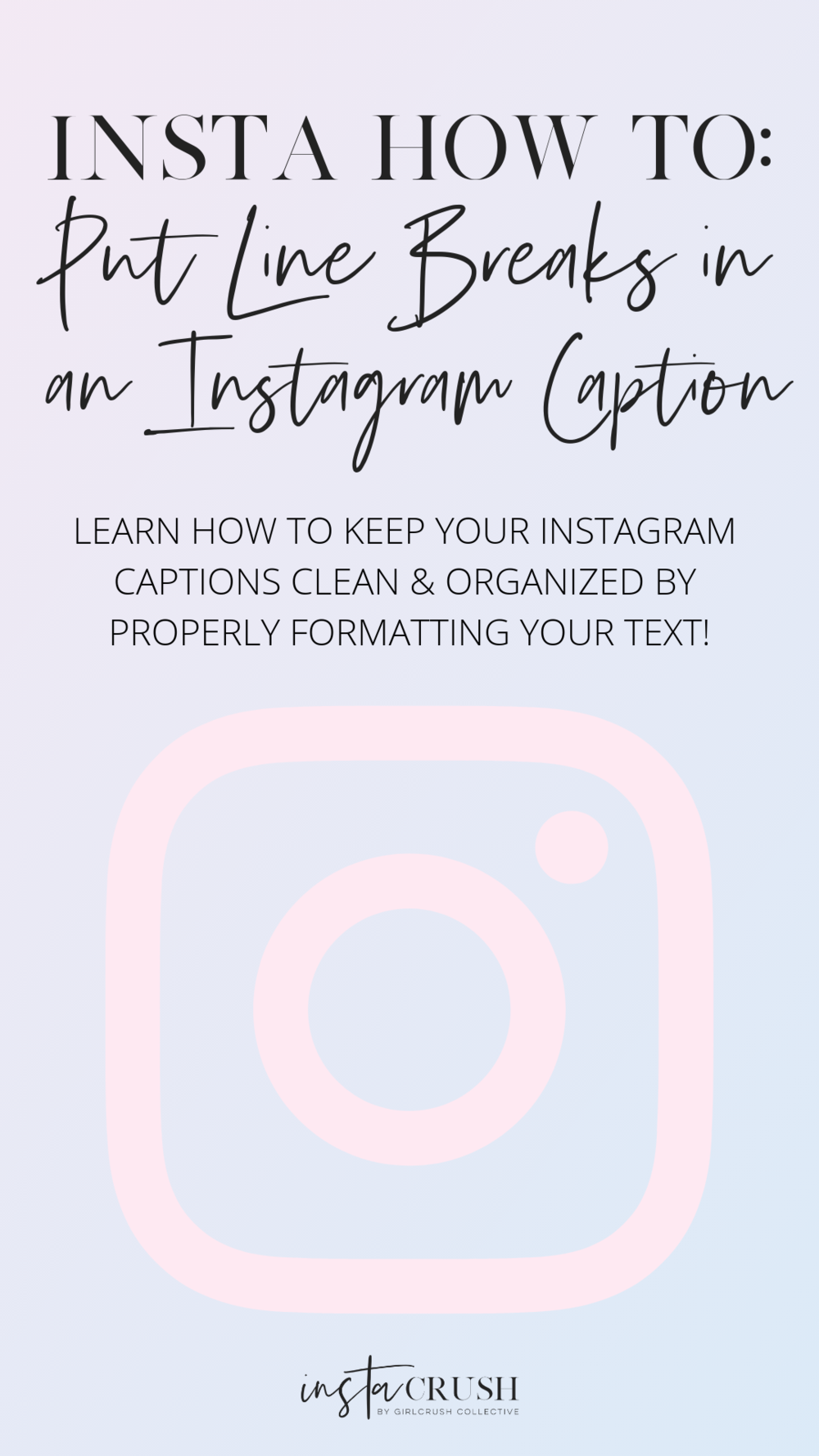 how to put line breaks in instagram caption
