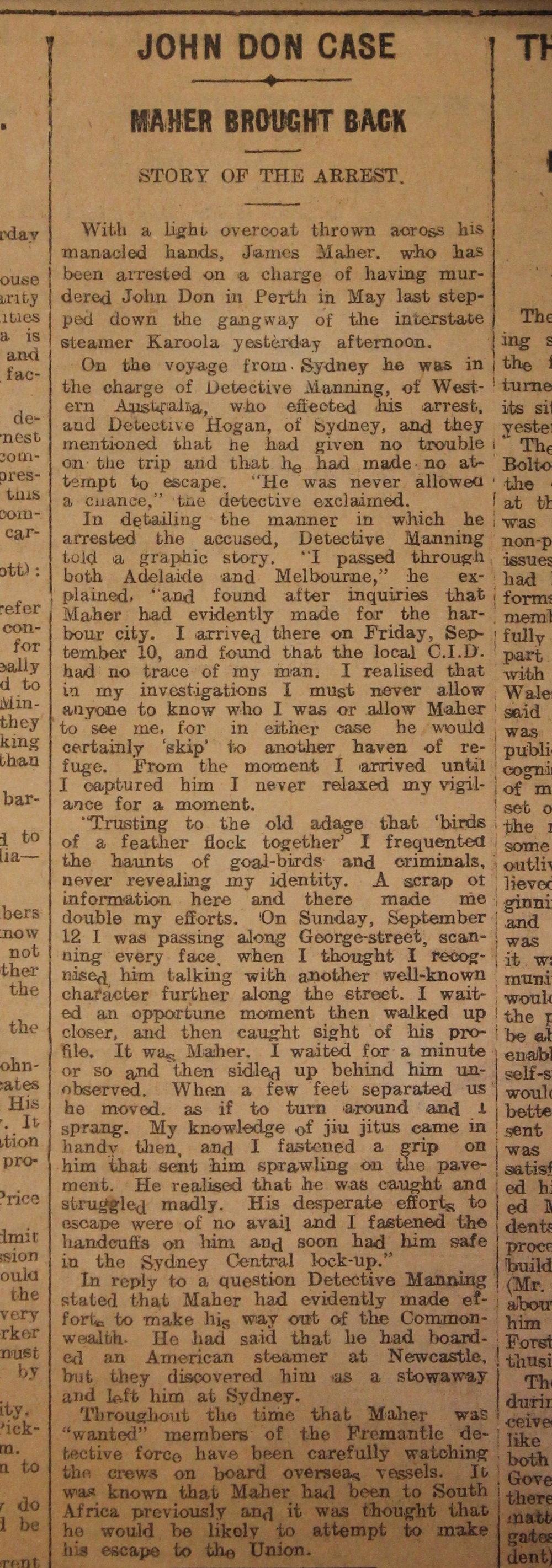 James Maher newspaper article SRO.JPG