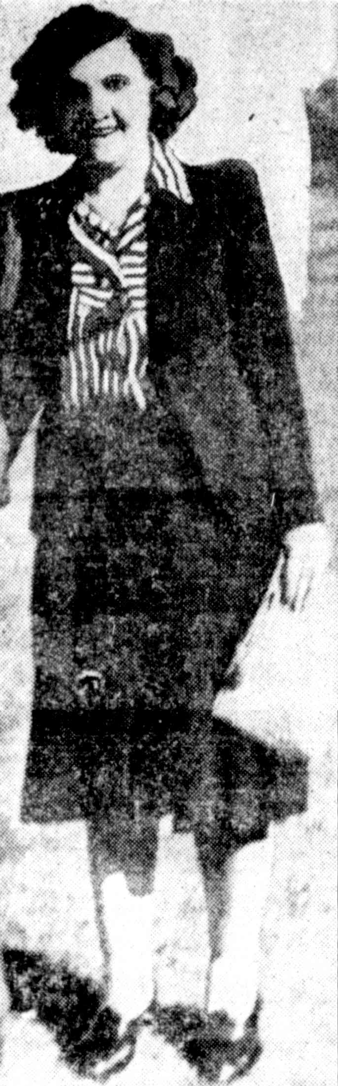 Stella Farnworth formerly Wilton nee King, Mirror, 15 February 1947.