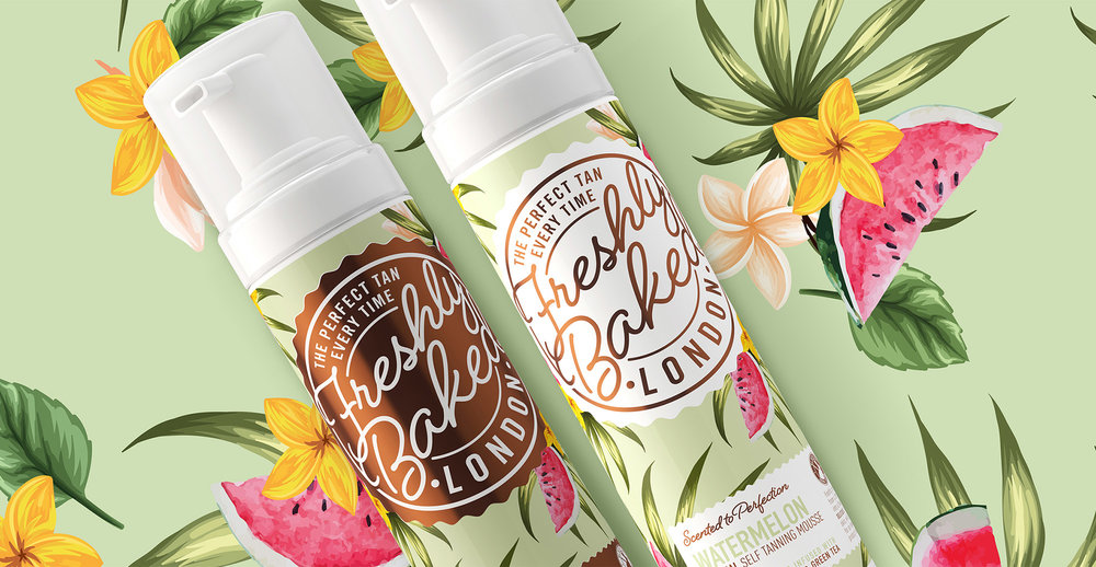 Freshly Baked Branding and Packaging Design - Watermelon Scent