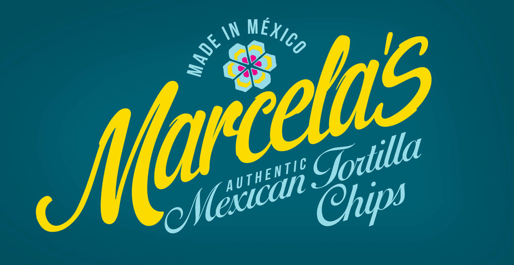 Food packaging design and brand identity for mexican food brand Marcela by Design Happy London - Logo design