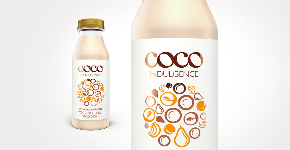 Luxury packaging design and branding for drinks brand Coco Indulgence by Design Happy London - Bottle Renders