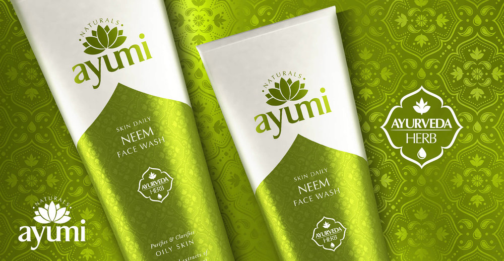 Health and Beauty Branding and Packaging Design for Beauty Brand Ayumi - Pack Shot Neem Face Wash