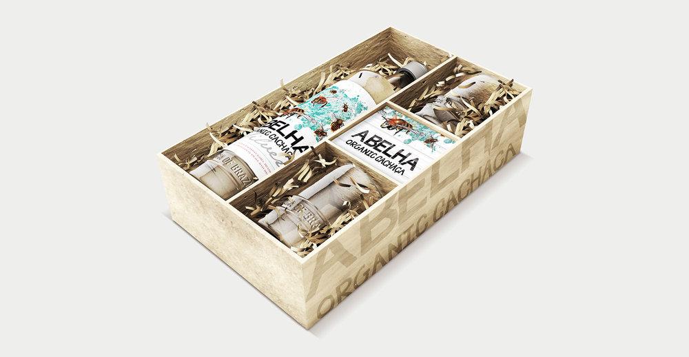 Structural Design and Brochure Design for Alcohol Brand Albelha - Gift box design