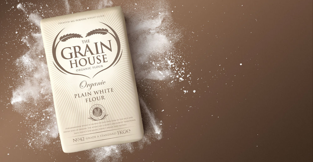 Premium Branding Design for Food Brand Grainhouse Flour - Bag Design