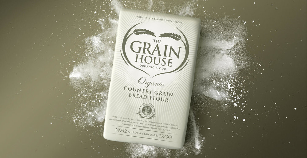 Premium Branding Design for Food Brand Grainhouse Flour - Render Design