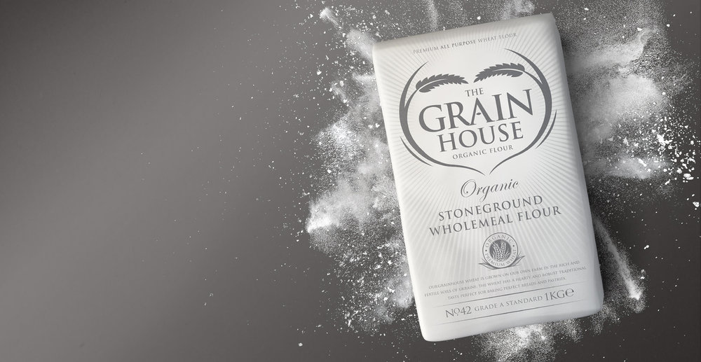 Premium Branding Design for Food Brand Grainhouse Flour - Product Shot