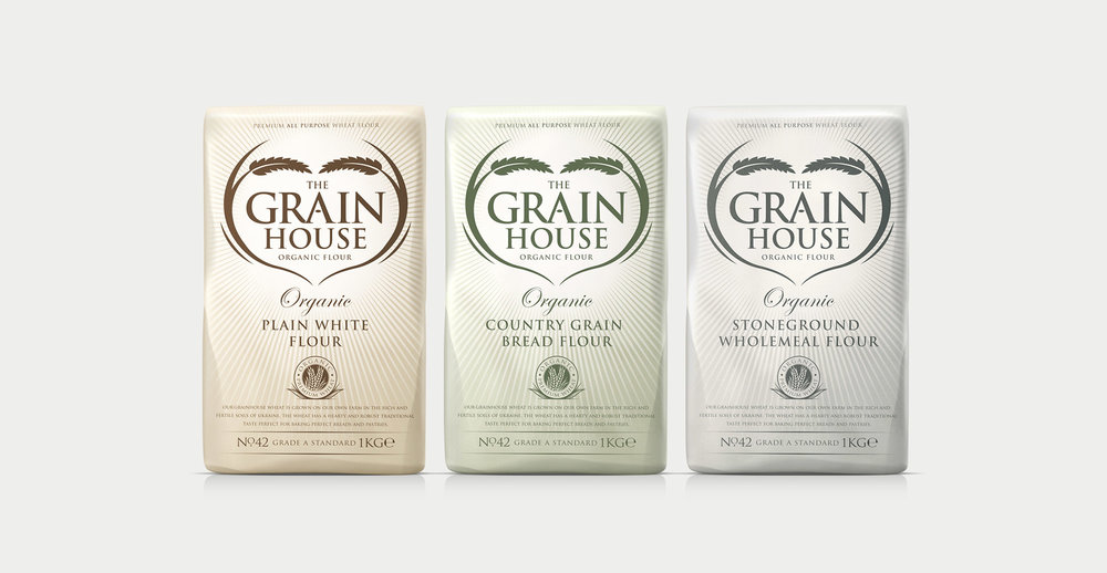 Premium Branding Design for Food Brand Grainhouse Flour - Full Range Shot