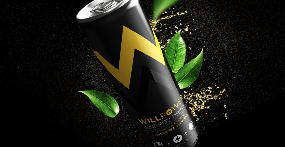 Branding and Packaging Design for Energy Drink Brand Willpower - 3D Render