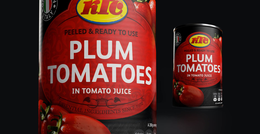 Packaging Design and Logo Refresh for Food Brand KTC Edibles - Tomatoes Packaging Design