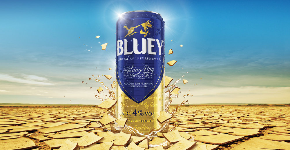 Brand Creation and Packaging Design for Australian Beer Brand Bluey Lager - Poster Design