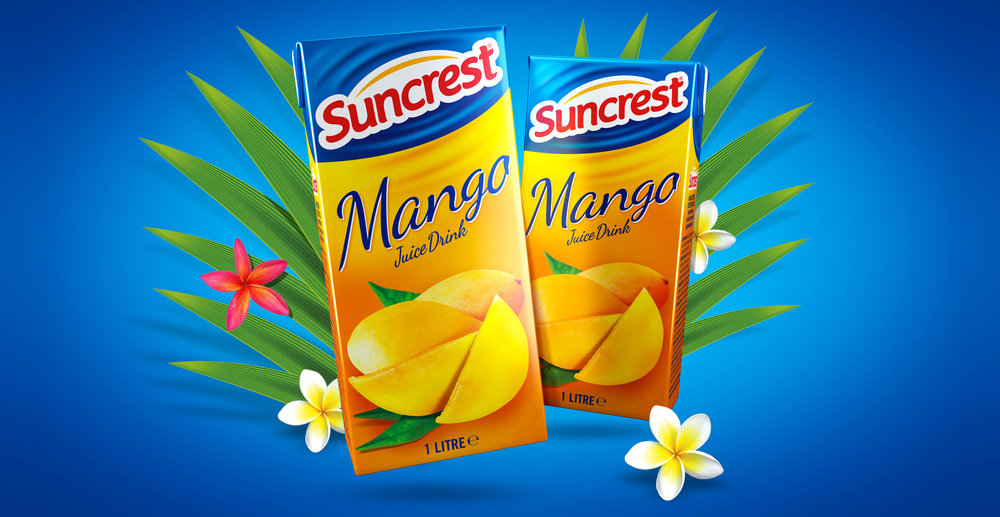 Redesign of well known beverage brand Suncrest - 3D Pack Render