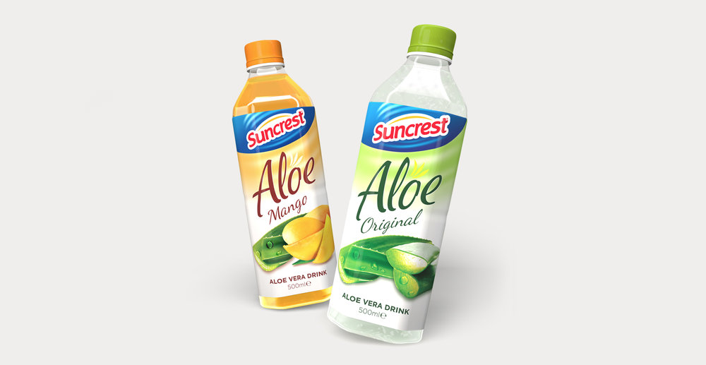 Redesign of well known beverage brand Suncrest - Bottle Design