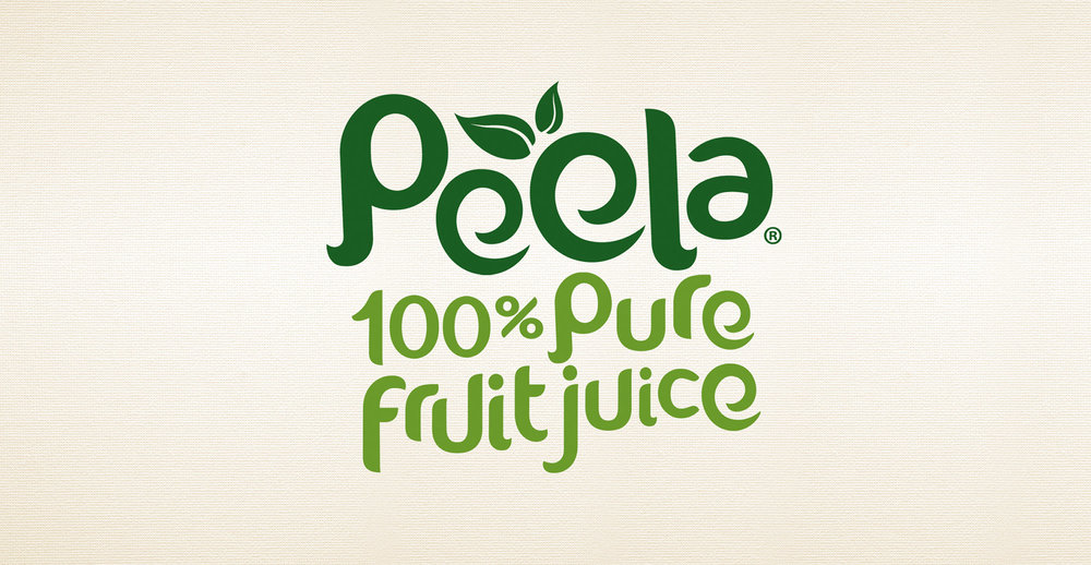 Drinks packaging design and new branding for natural juice brand Peela - Brand identity