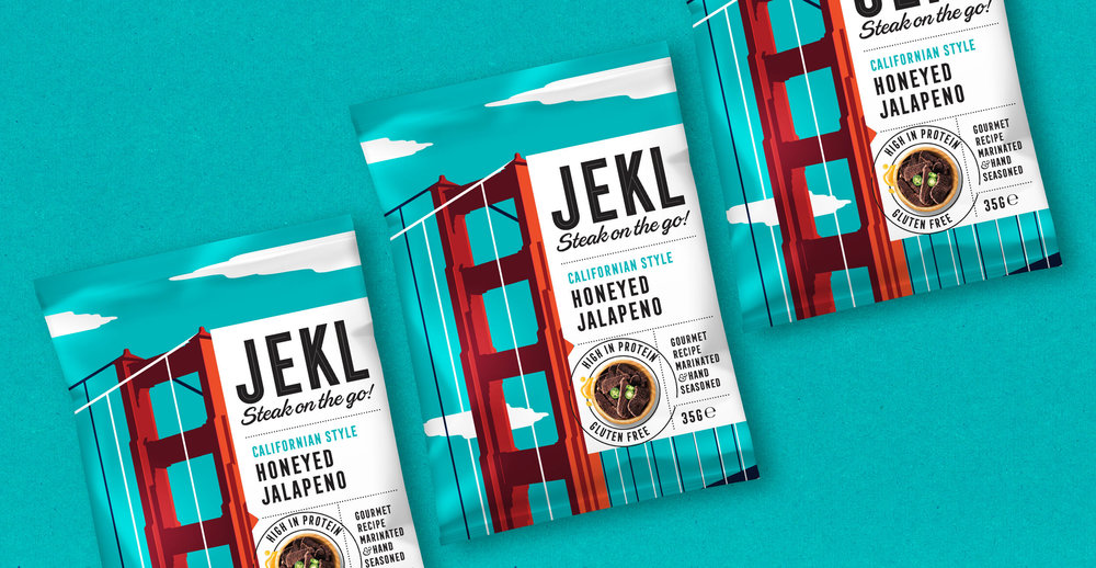 Branding and packaging design for Jekl - Blue pack render