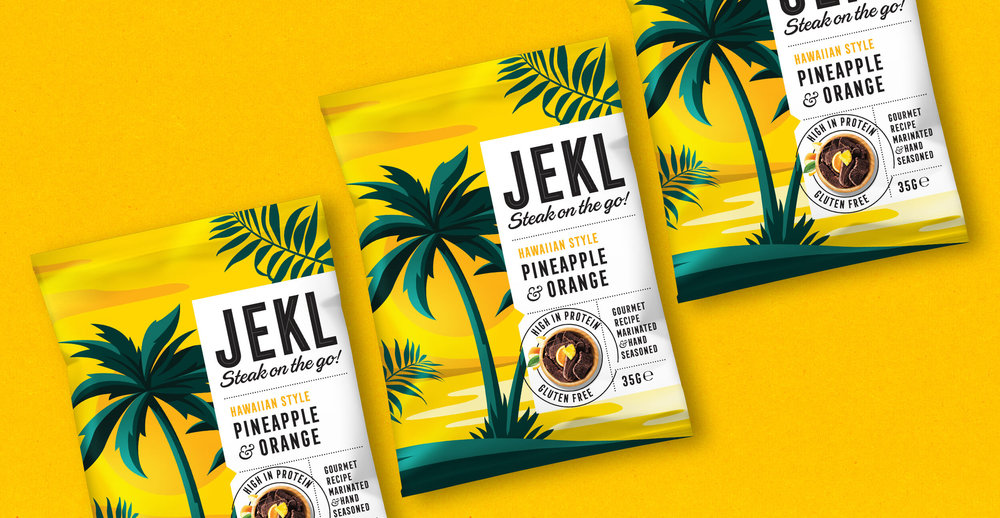Branding and packaging design for Jekl - Yellow pack render
