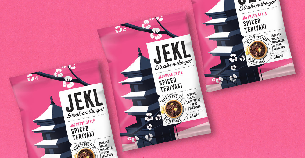 Branding and packaging design for Jekl - Pink pack render