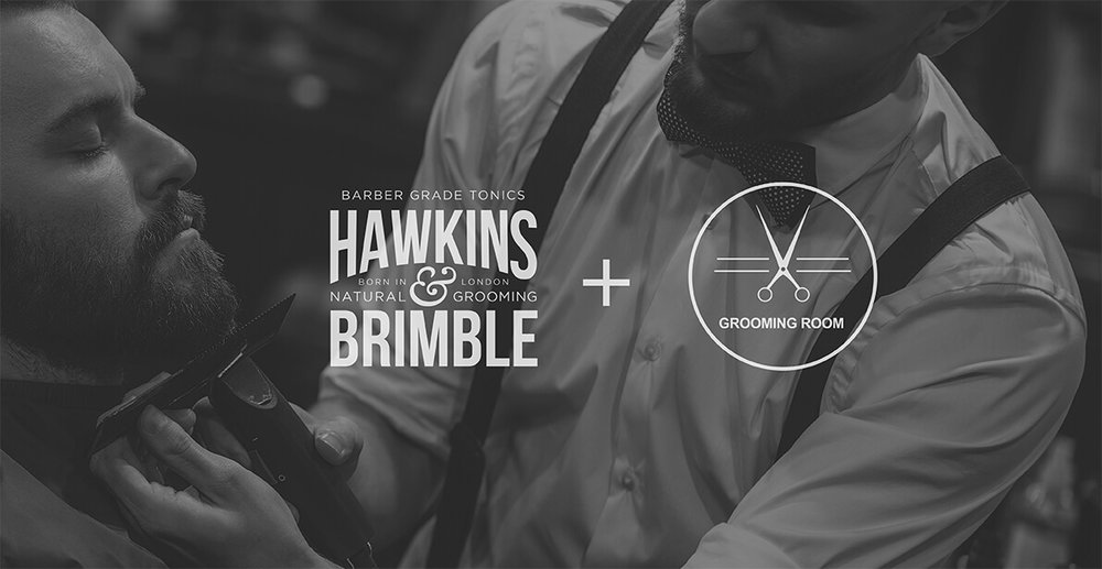Launching a male grooming brand - Hawkins & Brimble partner with The Grooming Room at London Fashion Week