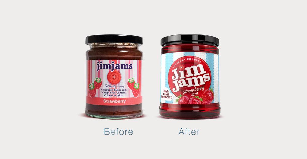 JimJams branding and packaging design
