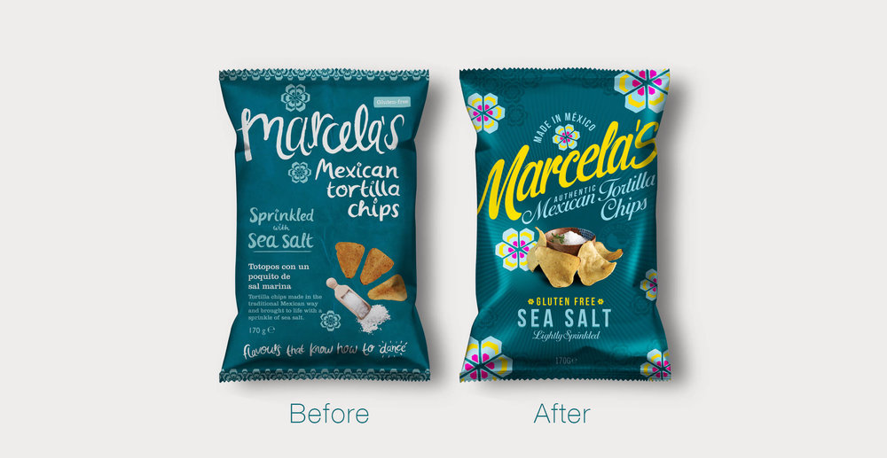 Marcela's Mexican branding and packaging design