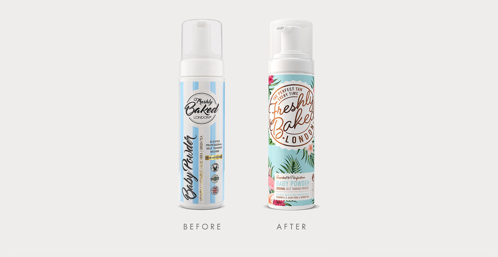 Freshly Baked Branding and Packaging Design- Before and After