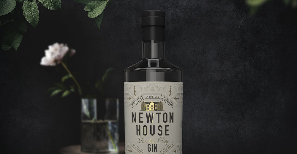 Netton House Gin Branding and Packaging Design Label close up