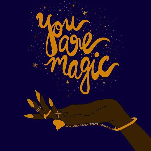 Don't you ever forget that you are magic and can do anything you want to! 📸: @bydivya