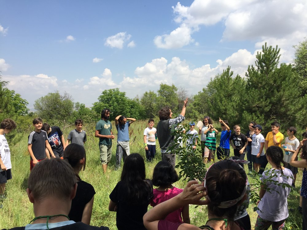 Nature Hosts - Nature Host Ibrahim leading a nature engagement session with school children