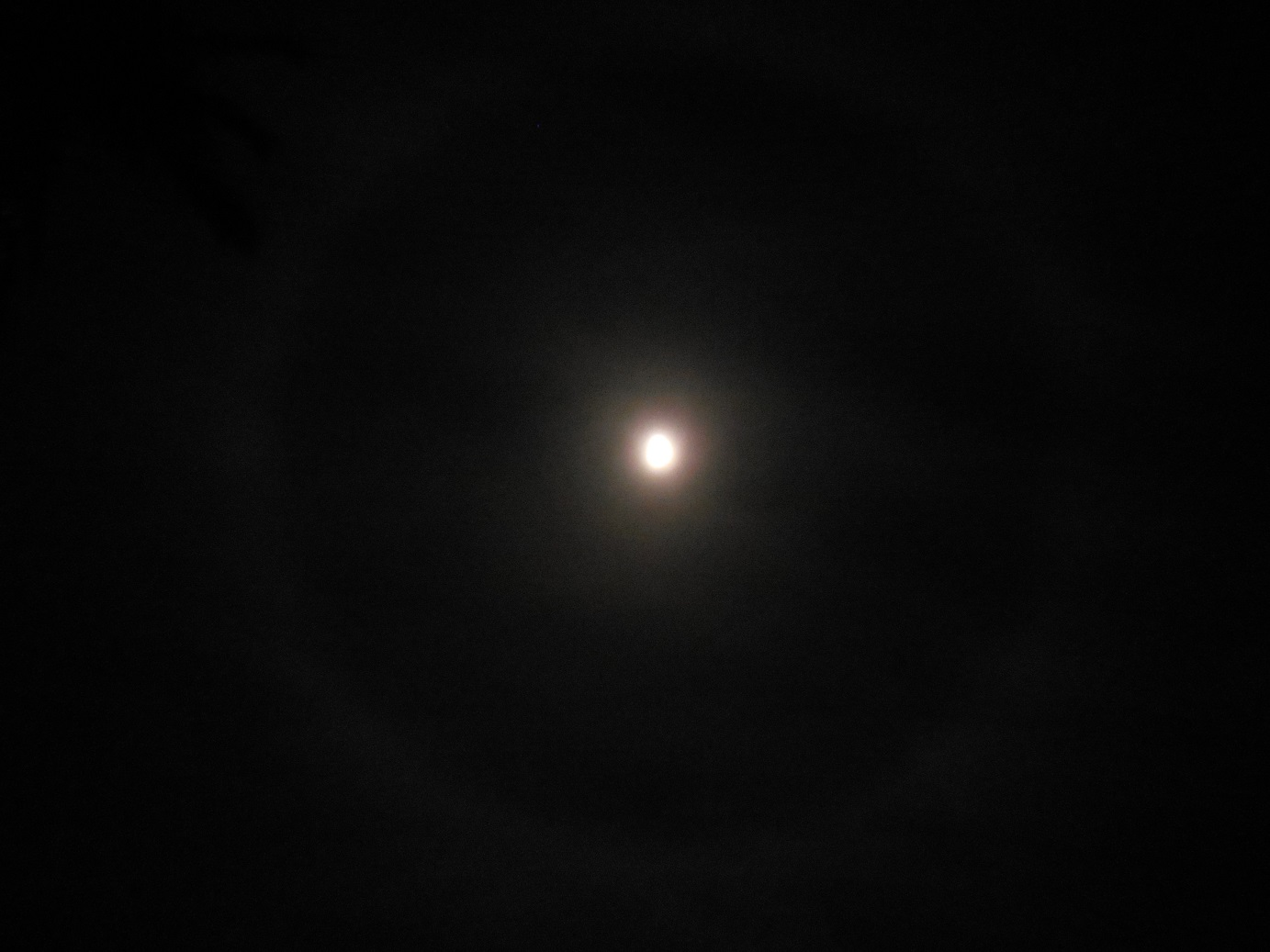 Halo around the moon