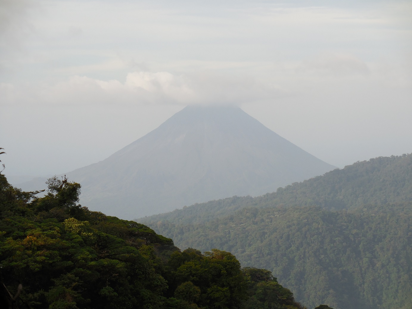arenal volcano as seen from santa elena