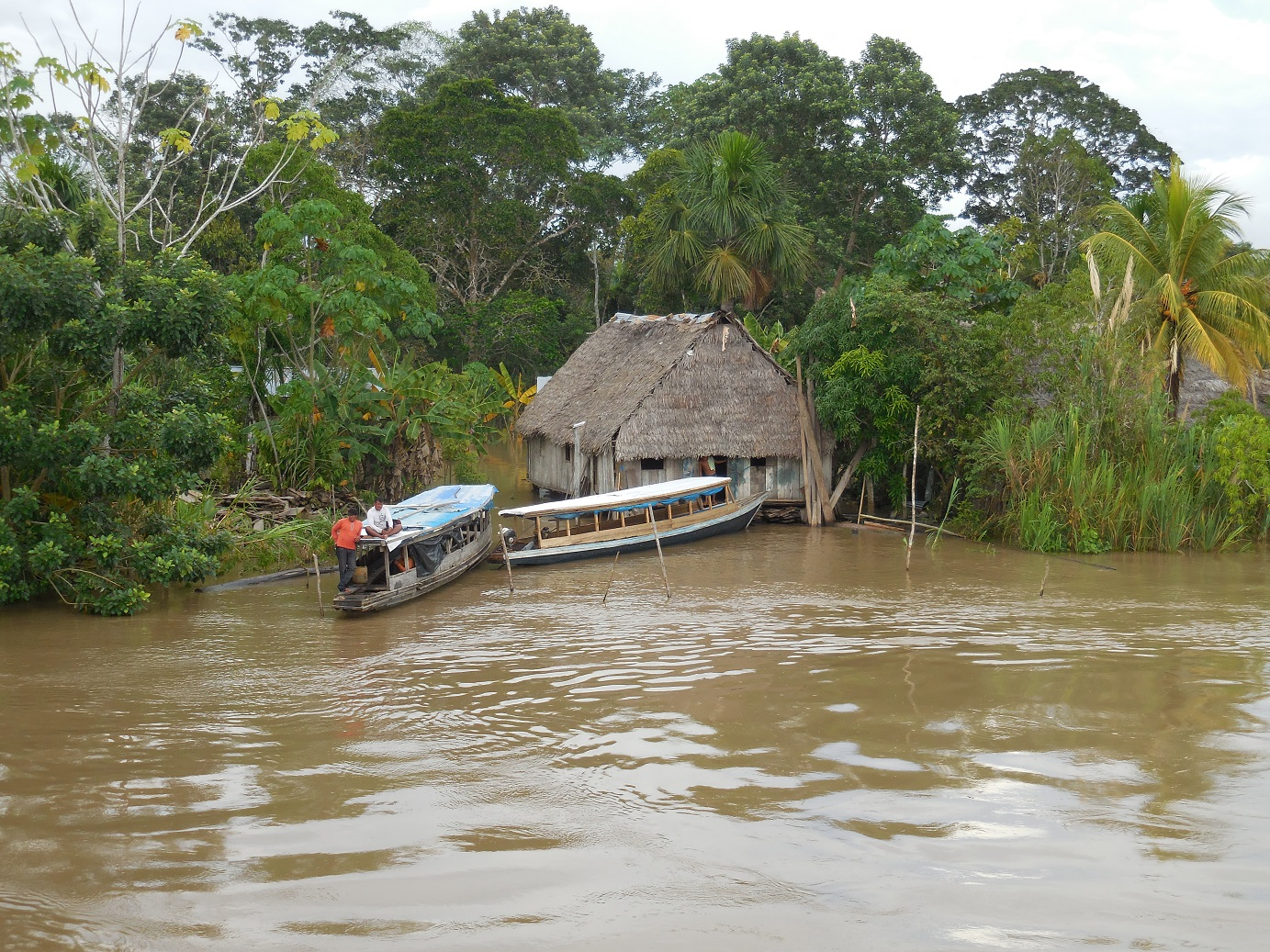 Local hut mildly flooded