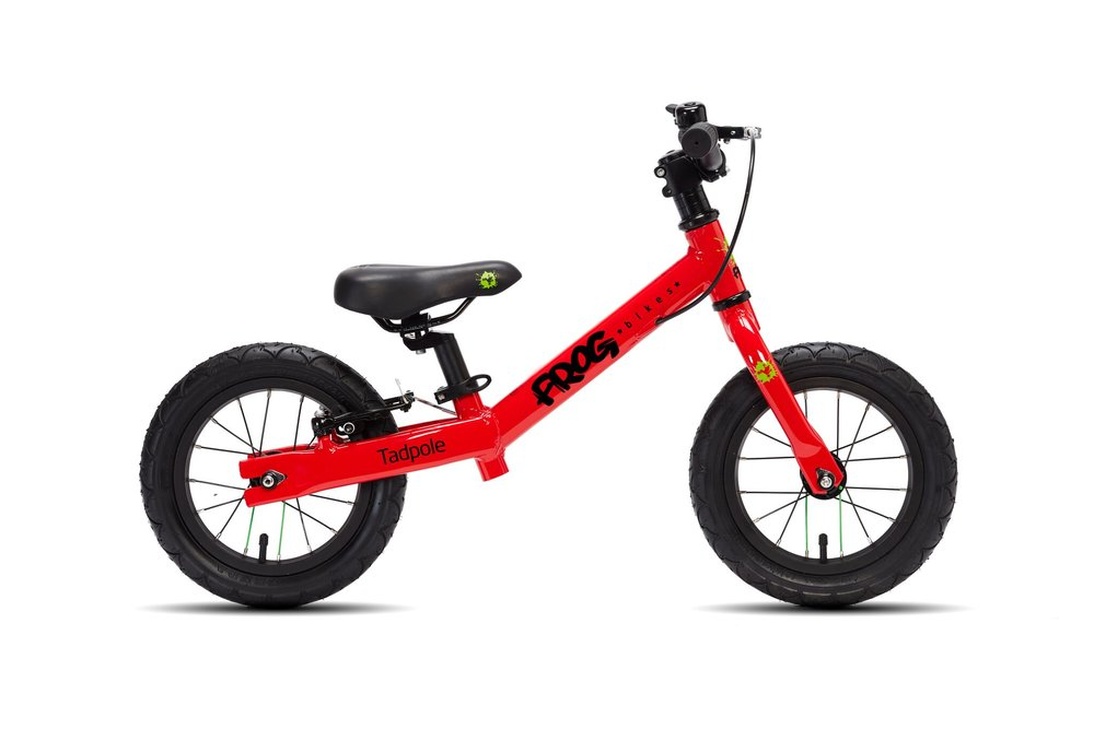 The Tadpole is Frog's balance bike and is available in three sizes - The Tadpole Mini (£110), the Tadpole (£115) and the Tadpole Plus (£130). These bikes are designed for children aged 1-2, 2-3 and 3-4 years old respectively.