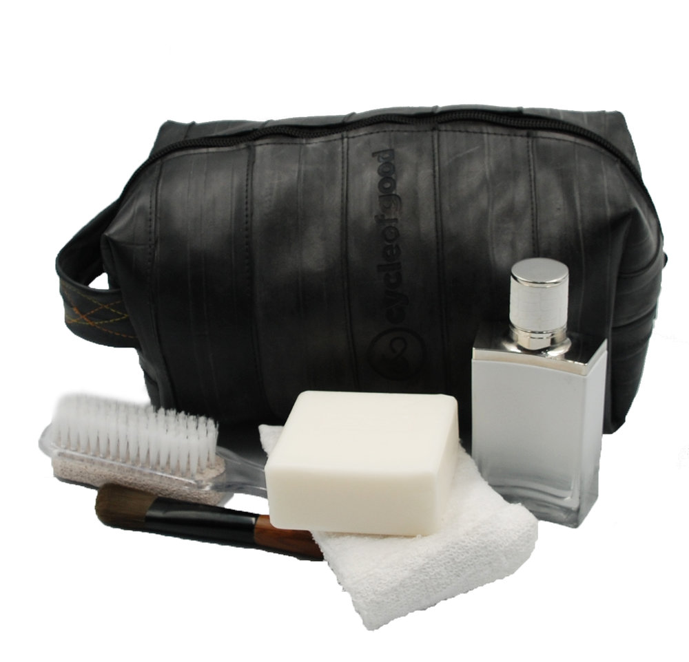 The Wash Bag at £16.80 is made from recycled inner tubes. It's just one of a number of products offered by Cycle of Good.