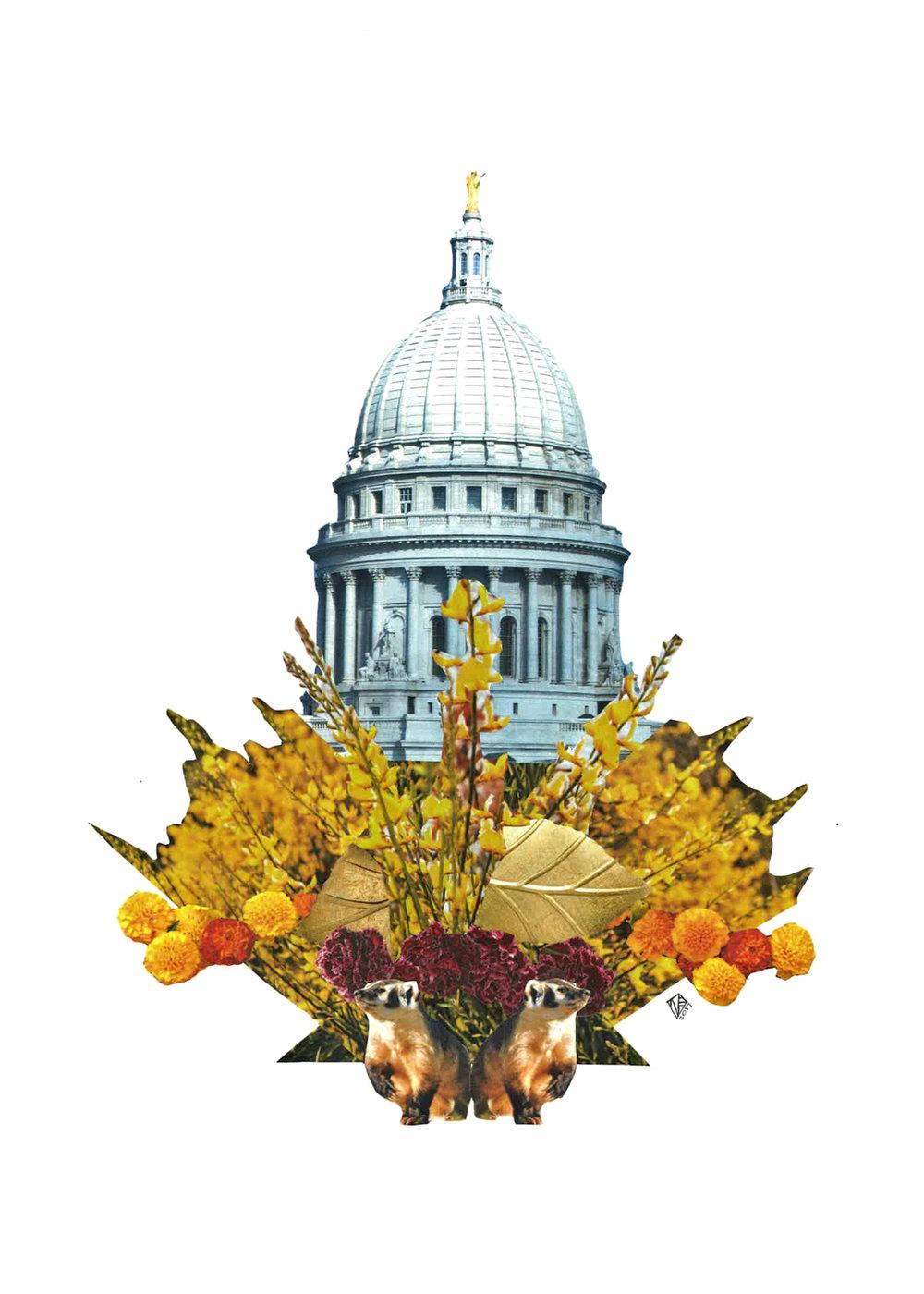 Capitol Seasons: Fall, 11x14, 2017