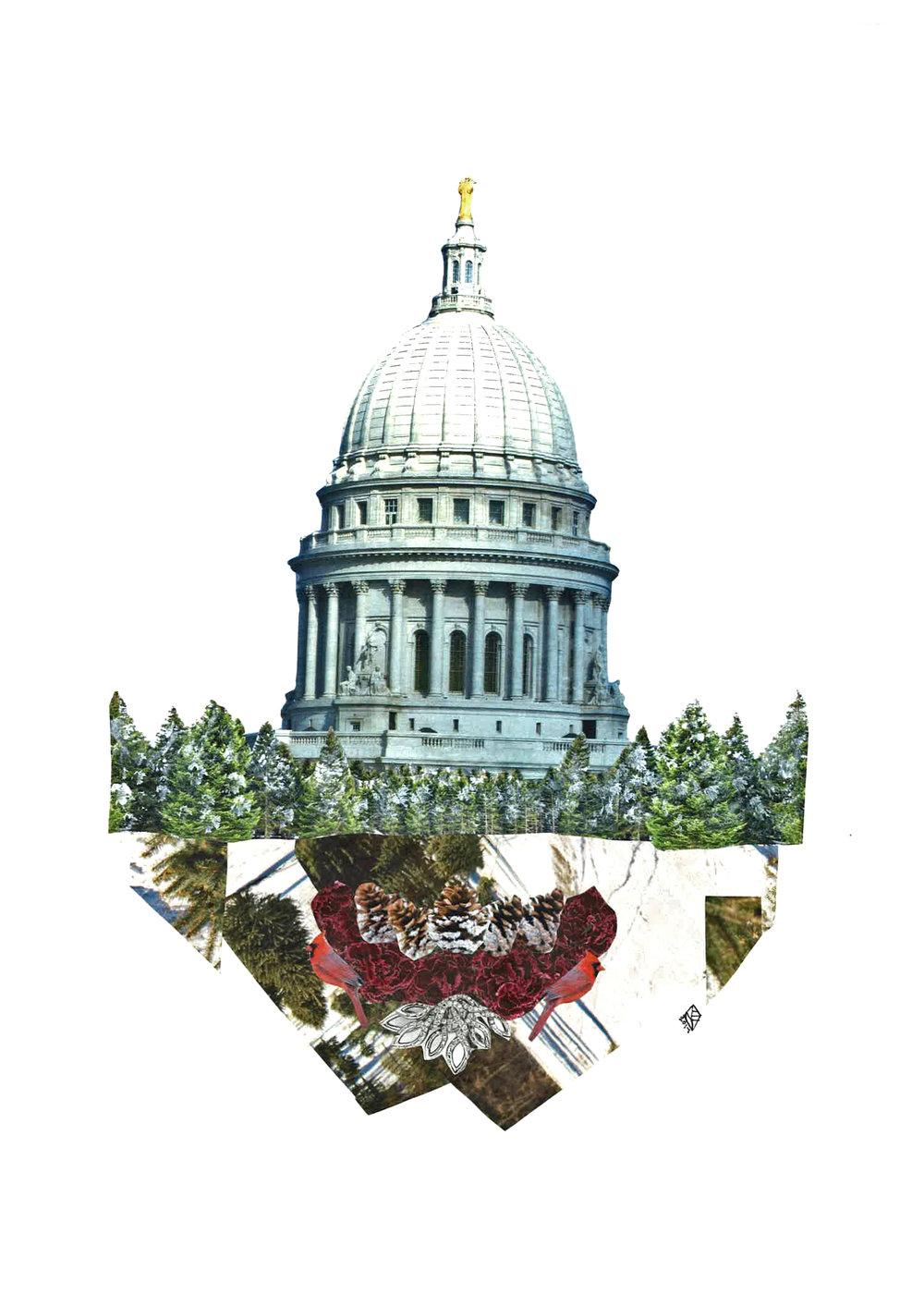Capitol Seasons: Winter, 11x14, 2017