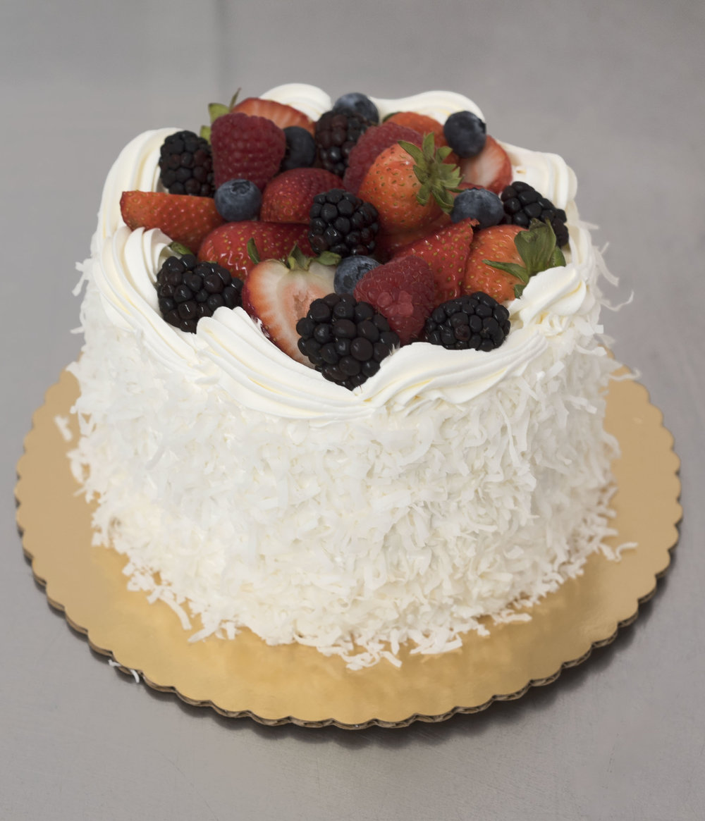 <strong>Cake 3:</strong> Coconut Berry Supreme