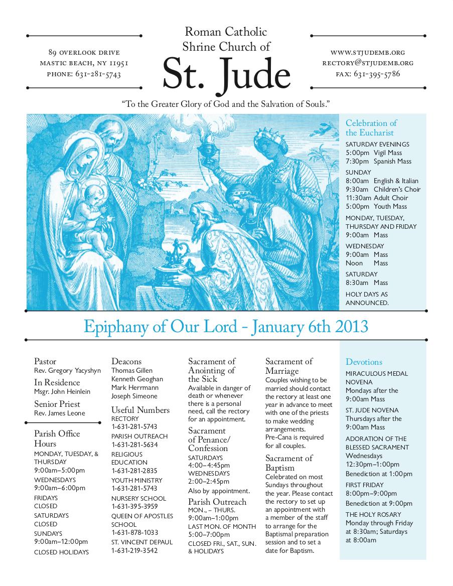 St Jude Bulletin