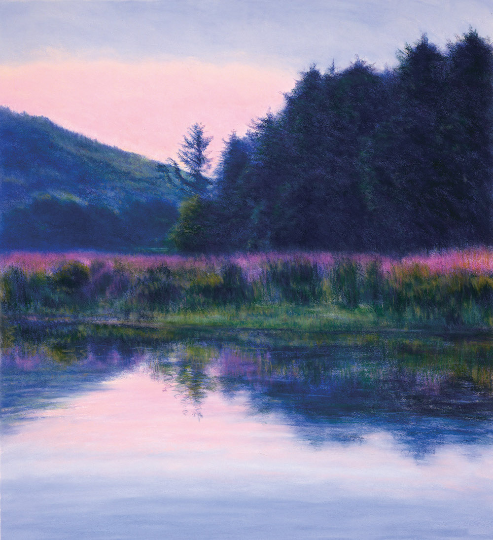 August Housatonic, Loosestrife, 38 1/2 x 34 1/4""