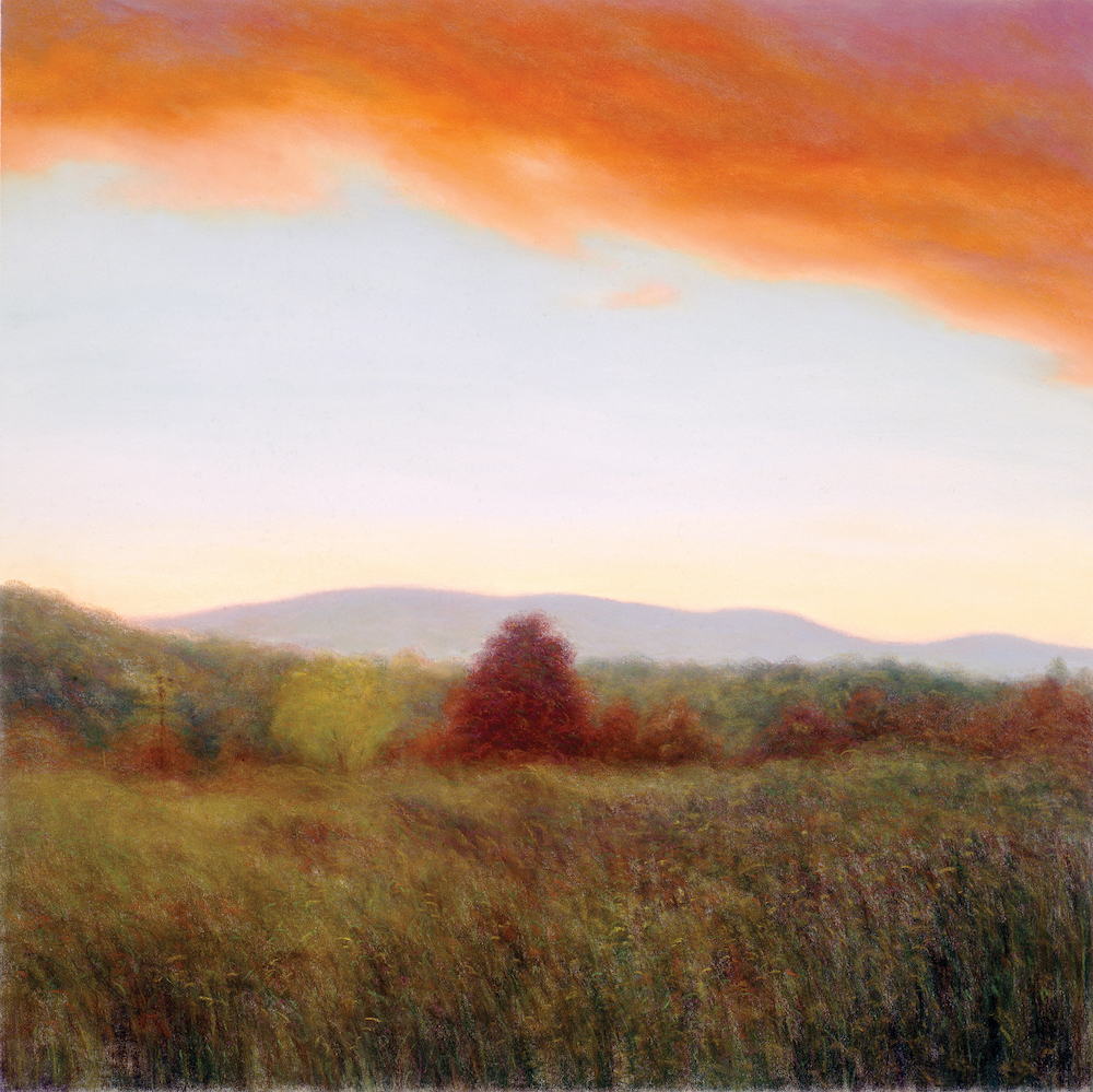 Autumn, Stockbridge Sunset, 36 1/2 x 36 3/4""