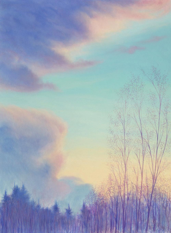 """Becket, Spring Dusk, Pastel, 45 1/2 x 33 1/2"""""""